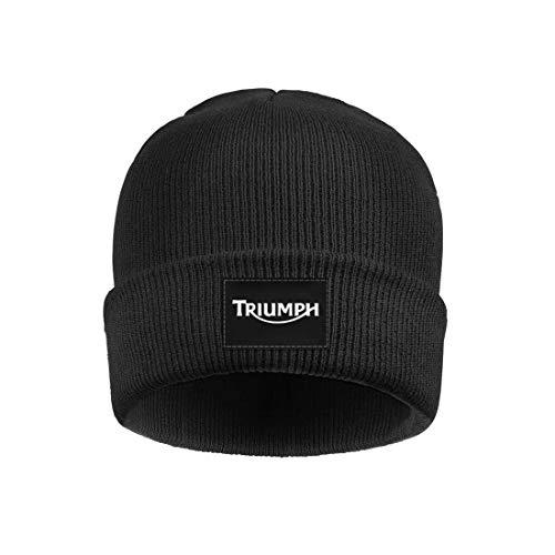 (Mens Womens Beanie Skull Hats Triumph-Motorcycle-Logo- Soft Fine Acrylic Winter Warm Watch Beanie Hat)