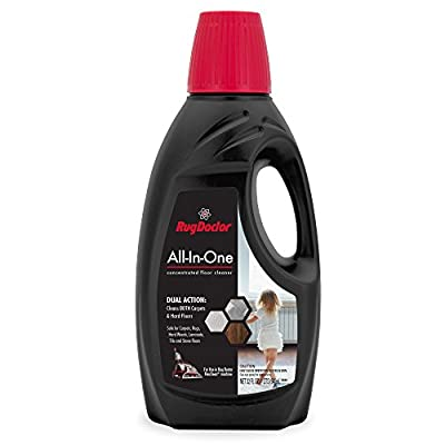 Rug Doctor FlexClean All-In-One Solution; 32 oz. Dual Action Formula for Both Carpet and Sealed Hard Floors; Removes Dirt Build Up, Grime, Grease, Spills, Messes and Stains; Use with FlexClean Only