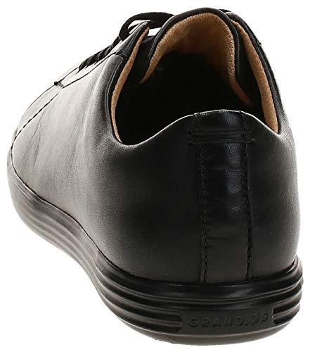 Cole Haan Men's Grand Crosscourt II Sneakers, Black Leather/Blk, 13