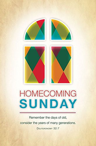 Homecoming Bulletin - Homecoming Sunday - ''Remember the days of old...'' - KJV - (Package of 100)