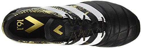 adidas Ace 16.1 FG Leather, Scarpe da Calcio Uomo Negro (Cblack/ Ftwwht/ Goldmt)