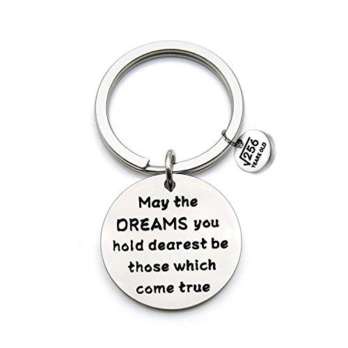 FEELMEM Birthday Gift Happy Birthday Keychain, 10th 12th 13th 16th 30th, Stainless Steel Birthday Key Ring Gift, for Women, Men, Kids, Friends and Family (16th Keychain)