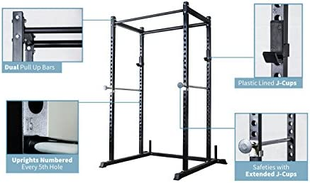 REP FITNESS Short Power Rack PR-1050 72 inches with Optional Dip Attachment, Flat Bench, Adjustable Bench
