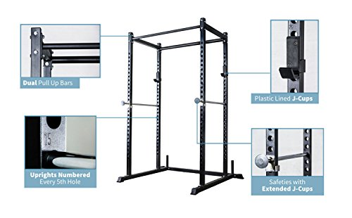 Rep Short Power Rack - PR-1050 - with Dip Attachment