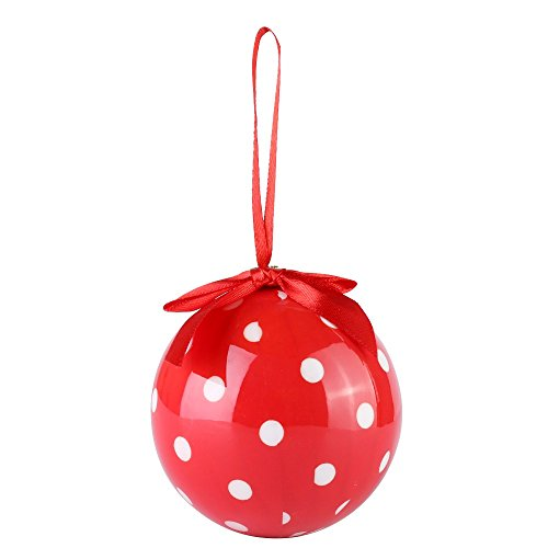 Cue Cue Festive Ready to Hang 24 Peice Red with White Polka Dots Ornament Set by Cue Cue (Image #3)