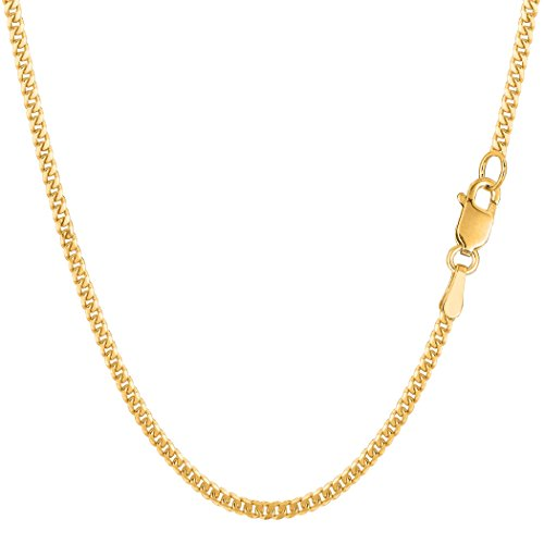 14k Gourmette Chain (14k Yellow Gold Gourmette Chain Necklace, 2.0mm, 18