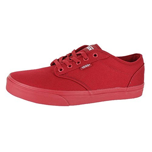 478cecb476 Galleon - Vans Mens Atwood Shoes Canvas Mono RED RED Size 8