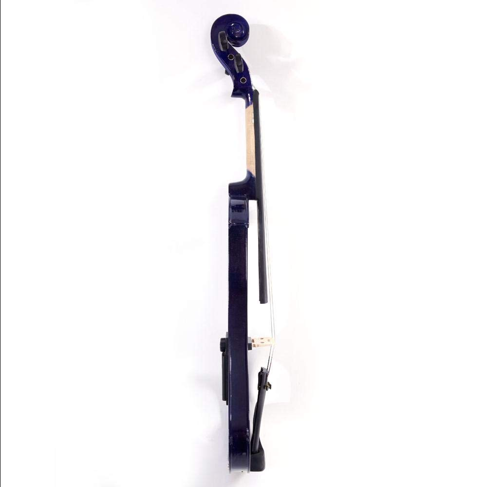 LJ1 4/4'' Basswood Electric Violin Case Rosin Head Set Bow Battery Connecting Line Purple by Aromzen (Image #1)