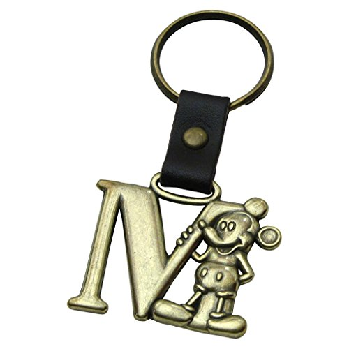 Mickey Mouse Letter M Brass Key Chain