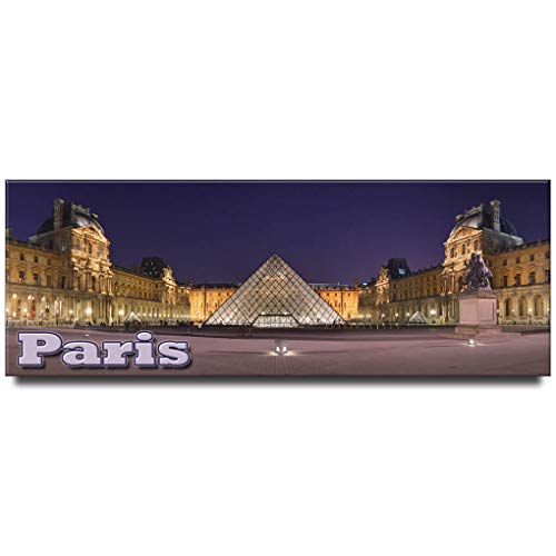 Museum of Louvre panoramic fridge magnet Paris travel souvenir France