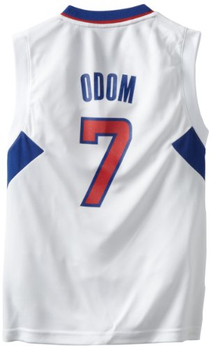 Outerstuff NBA Los Angeles Clippers Lamar Odom Youth 8-20 Replica Home Jersey, Small, White
