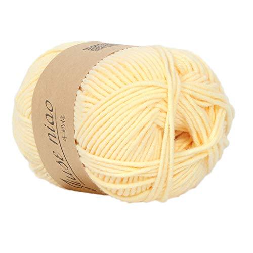 MaxFox 1PC 50g Wool Yarn,Chunky Colorful Baby Milk Cotton Hand Knitting Crochet Knitwear Woollen for Handmade DIY Kids Newborn Hats Scarf (C)