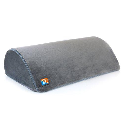 Easy Living Foot Rest Cushion Under Desk – High Rebounding Foam, Non-Slip Bottom Surface, Optimum Knee Clearance Under Desk – Ergonomically Designed, Your Feet Will Love for Office, Home, Travel