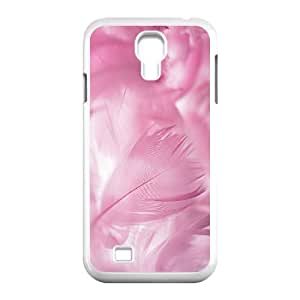 Diy Colorful Peacock feather Phone Case for samsung galaxy s4 White Shell Phone JFLIFE(TM) [Pattern-2]