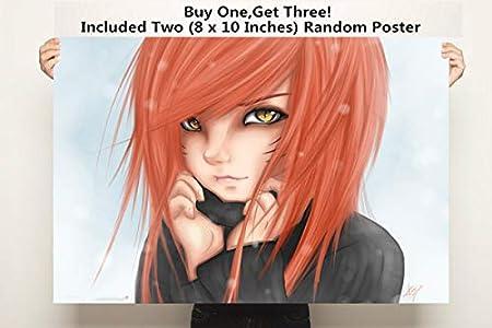 Amazon.com: QG Art Flame of Ninja Japanese Anime Girl Wall ...