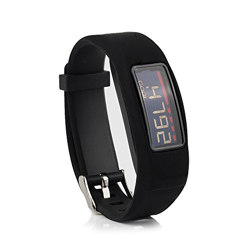 Cute Silicone Replacement Wristband Bracelet with Buckle for Garmin Vivofit 2 Fitness Band (Not for Garmin Vivofit), Black, One Size