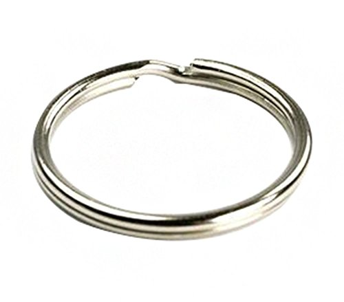 Ocharzy Silver Steel Round Edged Keychain Keyrings (100PCS, 0.5 Inches)