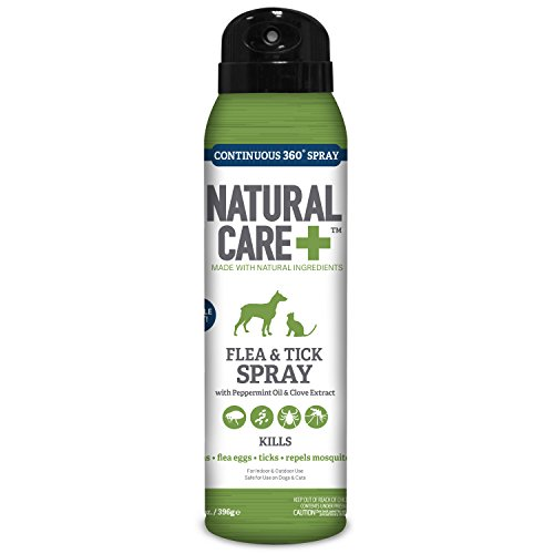 Natural Care Flea and Tick Spray for Dogs and Cats, 14 oz, Made in the USA