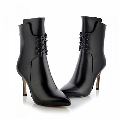 da con End High da Multa Nero 34 High Donna Stivali CXY Appuntite con in Donna Tacco Alto Scarpe End A5wvq