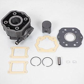 Kit de cilindro y pistón de hierro fundido, producto original para moto Derbi 50 Senda R Euro 2 hasta 2005: Amazon.es: Coche y moto
