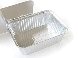Disposable Aluminum 5 lb. Oblong Pan with Board Lid #255-45L (25)