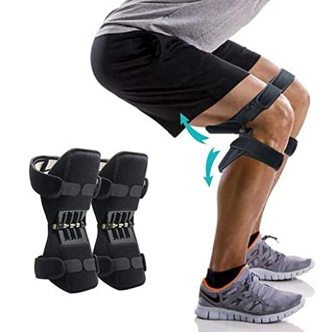 Buy Near stop Power Knee Booster, Knee Brace Lift Joint Support Knee Pads  Upgrade Spring Brace Rebound Booster, Power Knee Stabilizer Protector Band  for Mountaineering Deep Care Squat Gym Training Online at