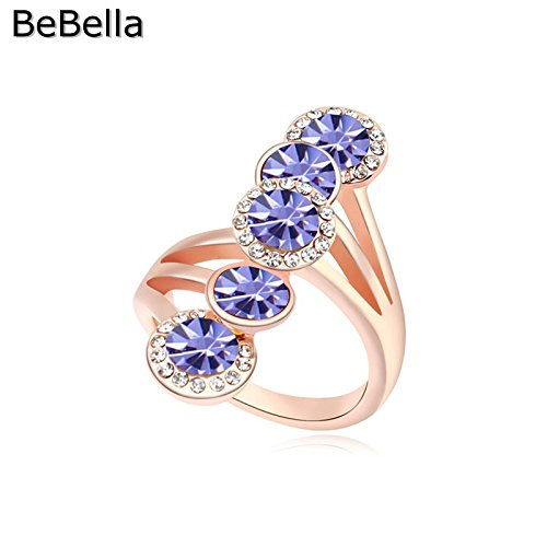 Cherryn style 6 colors round woman rose gold womens engagement rings fashion ring for women