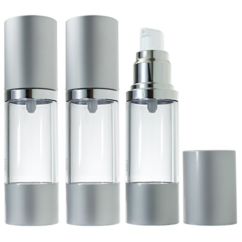 Airless Pump Bottle Refillable Container - 1 oz (3 Pack)