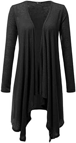 Prime Hot JayJay Women Open Front Casual Knit Long Sleeve Sweater Classic Cover Up Cardigan