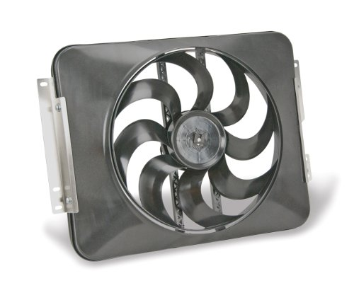 Flex-a-lite 485 Direct-Fit Black Magic X-Treme electric fan for '87-'06 Jeep Wrangler ()