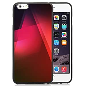NEW Unique Custom Designed iPhone 6 Plus 5.5 Inch Phone Case With Red Triangles Gradient Shadows_Black Phone Case