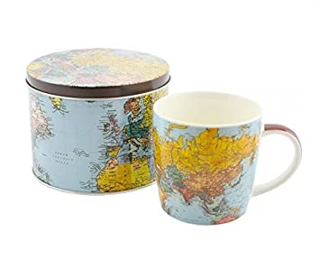 Amazon world traveller mug in tin world map mug by the world traveller mug in tin world map mug by the leonardo collection gumiabroncs Gallery