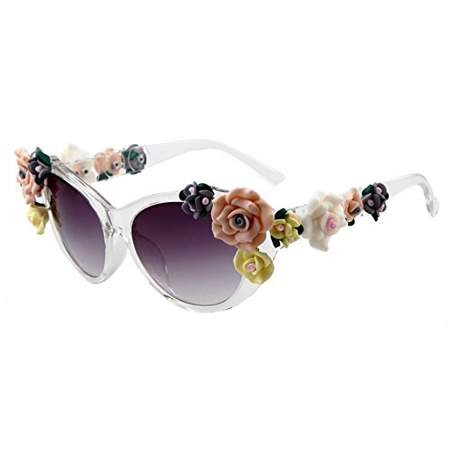 Smile Tomorrow Lady Retro Rose Flowers Decoration Summer Beach - Betsy Johnson Sunglasses