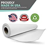 White Art Easel Paper Roll (12 Inch by 75 Feet) 100 Percent Recyclable Non-Yellowing Arts and Crafts Bond Paper for Paper Tablecloths, Bulletin Board Backing and Wall-Mount Note Stations