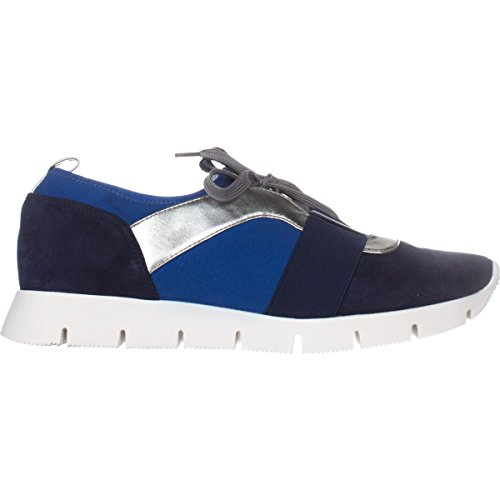 Negen West-dames Welldone Lage Top Veter-up Sneaker Met Sneaker Blue / Navy Multi