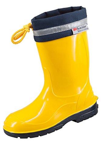 3M Scotchlite Kinder Gummistiefel Regenstiefel mit Stulpe KIM Gelb