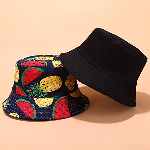 SHERNICE Fruit Hat Reversible Packable Fruit Sunfor Men Women (Sweet Fruit That Resembles A Large Tomato)