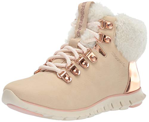 Cole Haan Women's Zerogrand Hiker Boot Ankle, Warm Sand Nubuck WP/Rose Gold, 5 B US (Cole Haan Short Boots For Women)