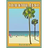 Clearwater Beach Florida-Art Deco Style Vintage Travel Poster-by Aurelio Grisanty