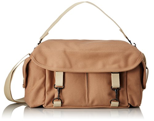 Domke F-2 original shoulder bag 700-02S (Sand) for Canon, Nikon, Sony, Leica, Fujifilm & Olympus DSLR or Mirrorless cameras with space for multiple lenses up to 300mm and accessories by Tiffen