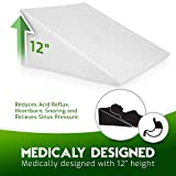 Bed Wedge Pillow with Memory Foam Top - Reduce Neck