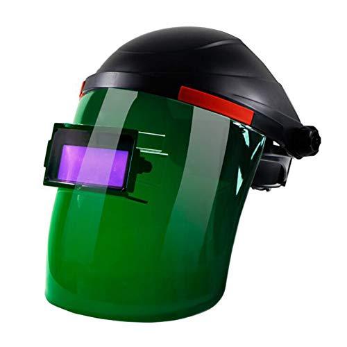 LAIABOR Casco Soldadura Solar Alimentado Fotoeléctrica Automática Solar Máscara Protección UV Trabajo Laboral Seguro...