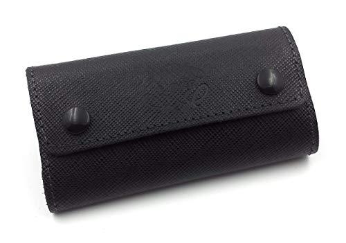 FJR-ArtPiel - Portallaves, estuche de 6 llaves hecho en Piel Ubrique - Alta Calidad - Negro: Amazon.es: Handmade