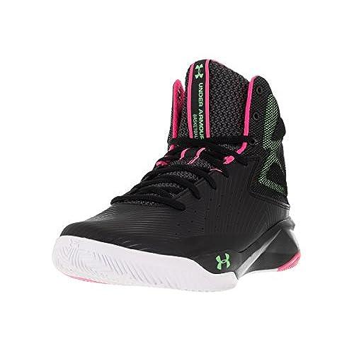 61531f0c5652 ... promo code for under armour mens ua rocket basketball shoes black mojo  pink laser green 10.5