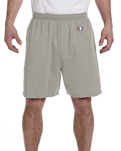 Champion 6.3 oz. Cotton Jersey Shorts, Oxford Gray, S
