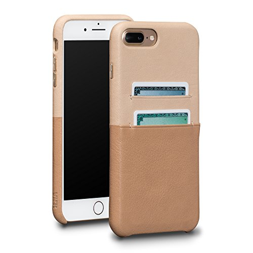 Sena Arri Snap On Wallet - Handwrapped Leather Card Holder Case  Iphone 8 Plus / 7 Plus - Desert/Sand