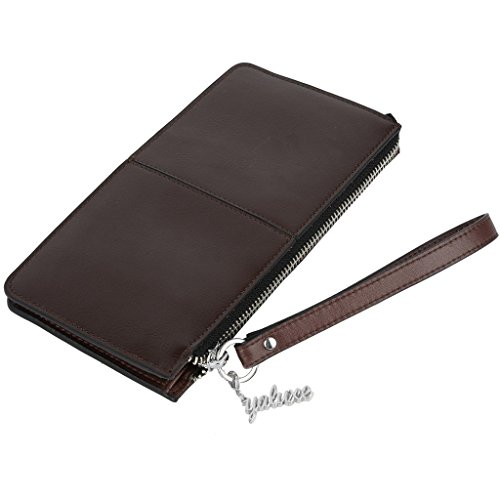 Yaluxe Women S Leather Purse Clutch Wallet With Wrist