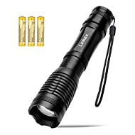 3 AAA Batteries Incl,Linkax LED Tactical Flashlight Brightest Handheld Flashlights 5 Models Zoomable LED Flashlight 800 Lumens Handheld Flash Light with Water Resistant in Emergency