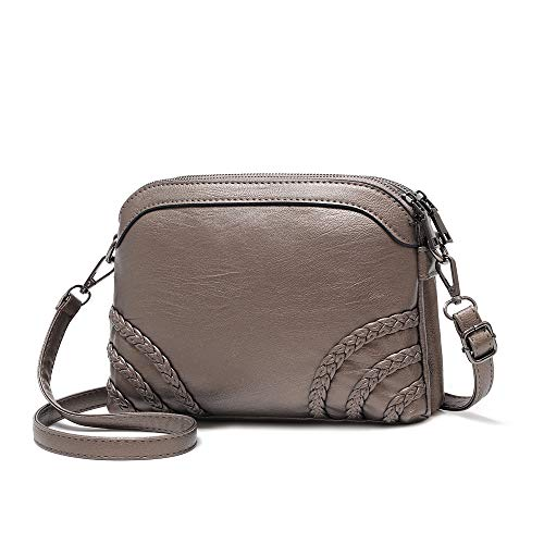 Crossbody Bag for Women Small Leather Phone Purse Wallet Shoulder Bag Trendy Ladies Wristlet Clutch (Bronze b)