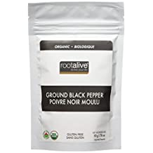 Rootalive Organic Black Pepper Ground, 50-Gram